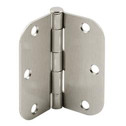 Picture of U 11262 - Butt Door Hinge, 3-1/2 inch, 5/8 Radius Corners, Satin Nickel Steel, Pack of 2