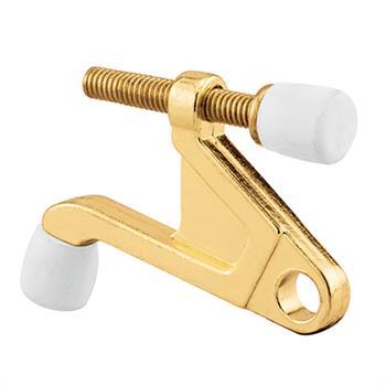 U 9026 Hinge Pin Door Stop 90 Degree Brass Plated