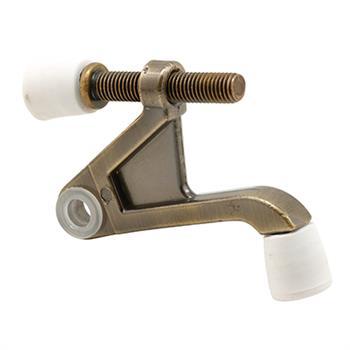 U 9027 Hinge Pin Door Stop 90 Degree Antique Brass Plated