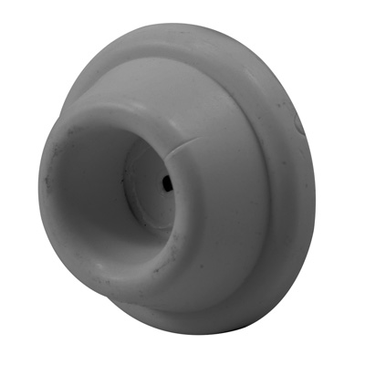Picture of U 9032 - Door Stop Bumper, 1-7/8 inch Round Grey Solid Rubber, Self-Adhesive, Pack of 2