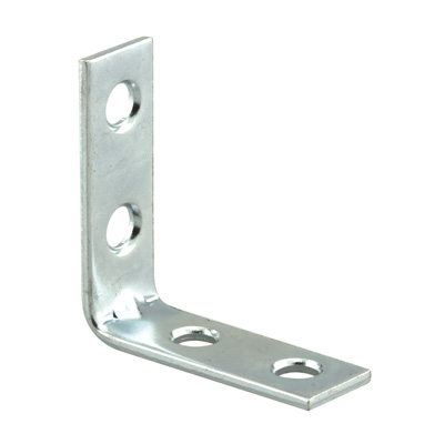 Picture of U 9114 - Angle Corner Iron, 1-1/2 inch Legs, Zinc Plated Stamped Steel, Pack of 50