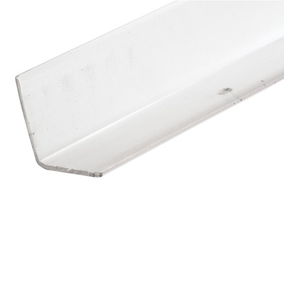 Picture of U 9130 - Corner Shield, Clear Vinyl, 1-1/8 by 1-1/8 by 48 inches, Pre-Drilled Mounting Holes