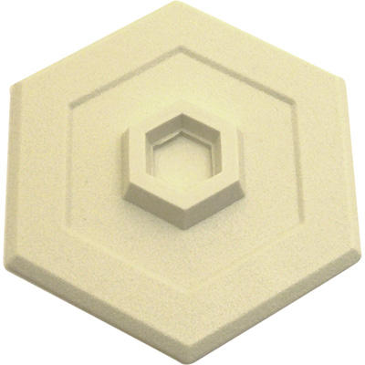Picture of U 9140 - Wall Protector, Ivory Vinyl, 5 inch Hexagon, Self-Adhesive