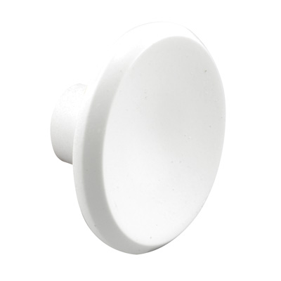 """Picture of U 9193 - CABINET PULL, 1-1/2"""" ROUND, WHITE"""
