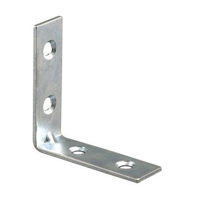 Picture of U 9221 - Angle Corner Iron, 2 inch Legs, Zinc Plated Stamped Steel, Pack of 50