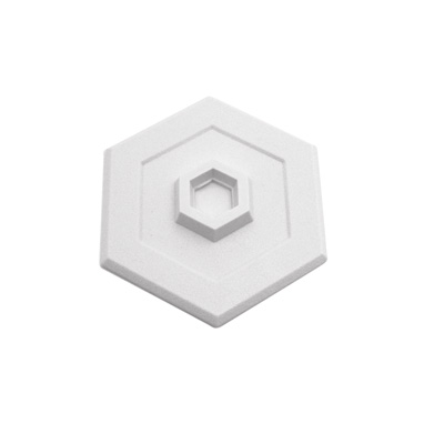 Picture of U 9275 - Wall Protector, White Vinyl, 5 inch Hexagon, Self-Adhesive