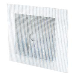 Picture of U 9290 - Drywall Repair Pipe Patch, 4 inch Metal Square with 3/4 inch Hole, Adhesive Mesh Back