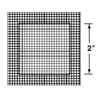 Picture of U 9313 - Drywall Repair Patch, 2 inch Metal Plate Square, Adhesive-Backed Mesh