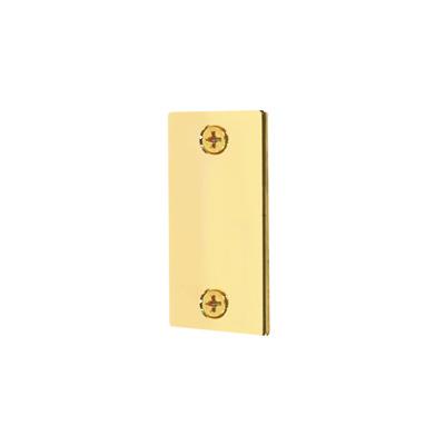 """Picture of U 9497 - Door Edge Filler Plate, 1-1/8"""" x 2-1/4"""", Steel, Brass Fin."""