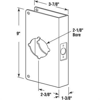 sc 1 st  Prime-Line & U 9540 - Lock \u0026 Door Reinforcer 1-3/8\
