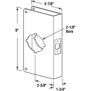 U 9541 Lock Amp Door Reinforcer 1 3 8 Quot Solid Brass Recessed