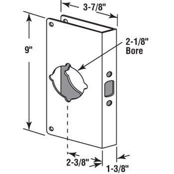 U 9547 Solid Brass Lock And Door Reinforcer