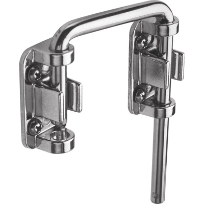 "Picture of U 9847 - Sliding Door Loop Lock, 2-1/8"", Steel, Nickel Plated"