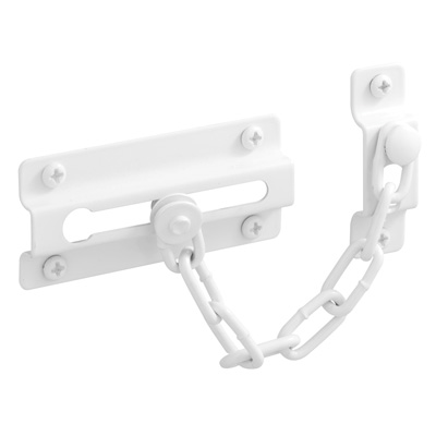 Picture of U 9852 - 4 in. White Chain Door Guard