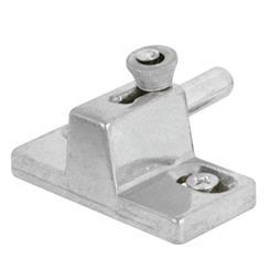 """Picture of U 9866 - Patio Door Slide Bolt Lock, 2-1/4"""", Diecast, Aluminum"""