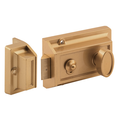 Picture of U 9967 - Brass and Cylinder Keyed Door Lock